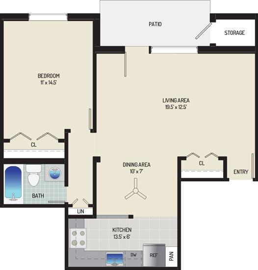Village Square West Apartments - Apartment 042407-101-D1