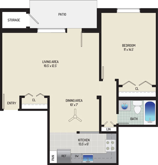 Village Square West Apartments - Apartment 042504-102-D2