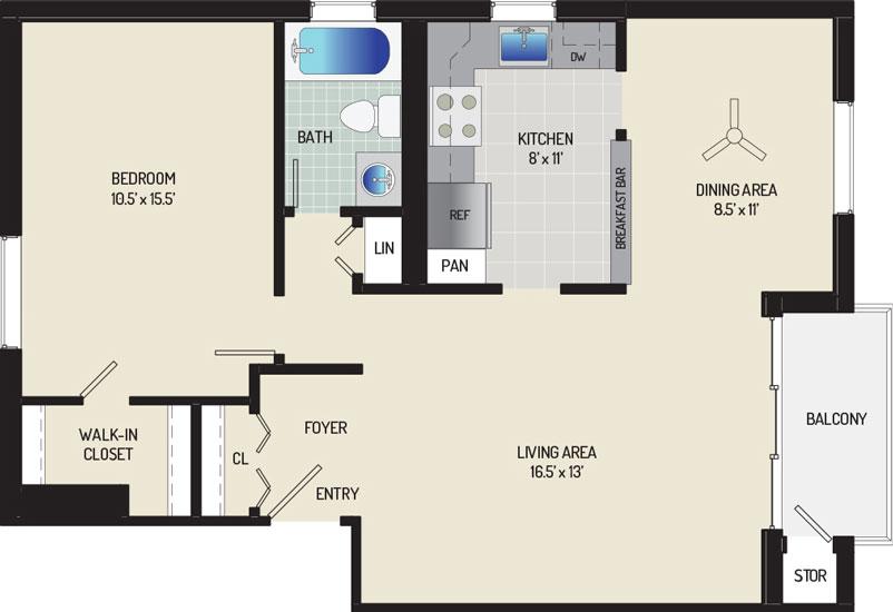 Village Square West Apartments - Apartment 042408-401-G2