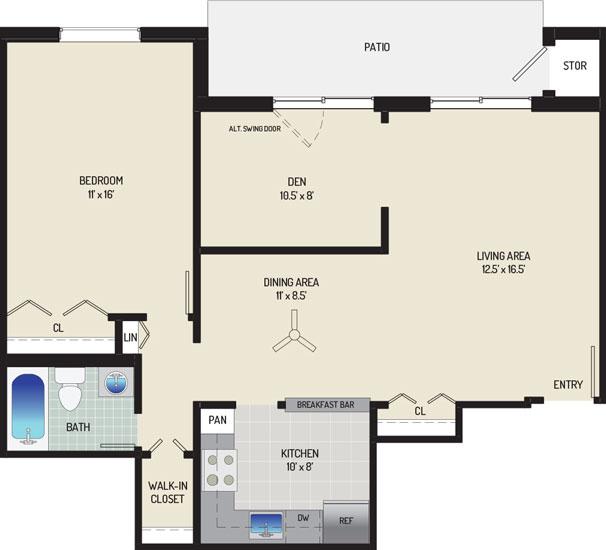 Village Square West Apartments - Apartment 042305-101-H1