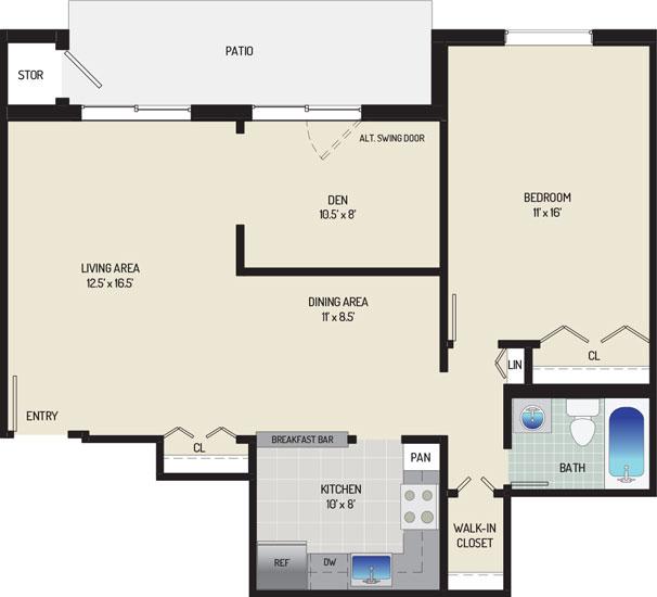 Village Square West Apartments - Apartment 042304-102-H2