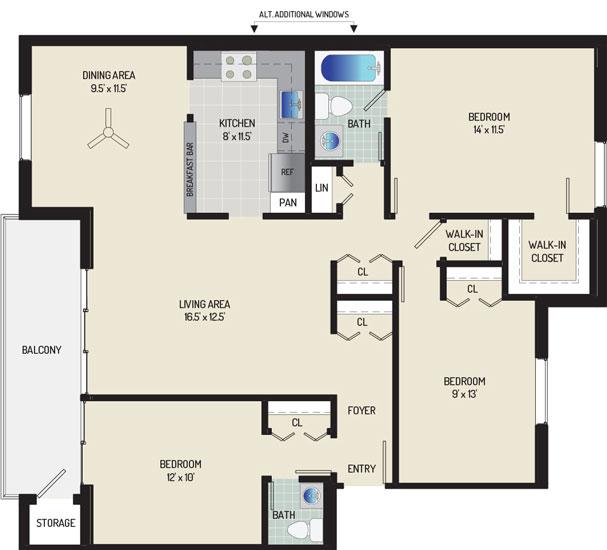 Village Square West Apartments - Apartment 042305-302-K1