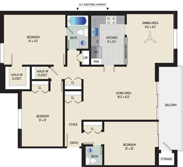 Village Square West Apartments - Apartment 042312-401-K2