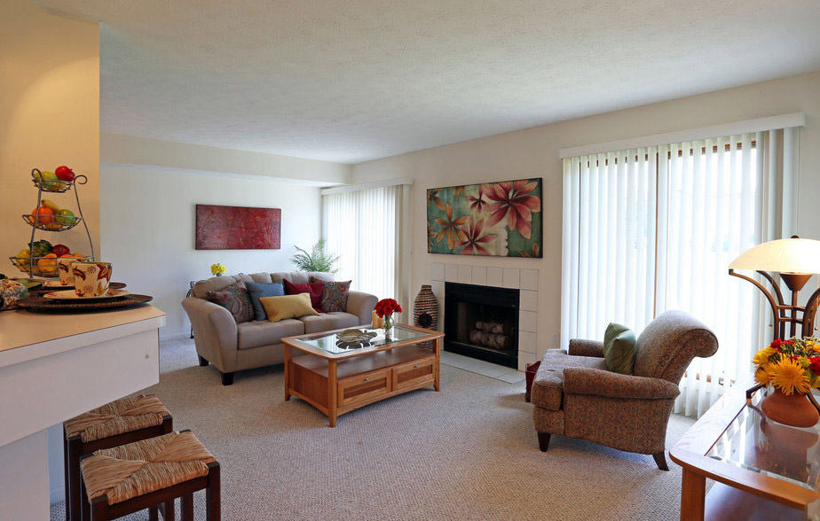 Large Living Room Areas at Village Walk Apartments in Webster, New York