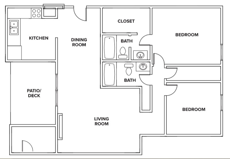 Villas of Oak Creste - Floorplan - 2BR