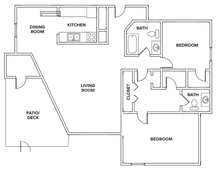 Villas of Oak Creste - FloorPlan - 2BR A