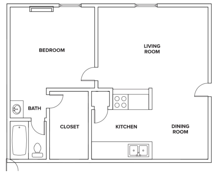 Villas of Oak Creste - Floorplan - 1BR A