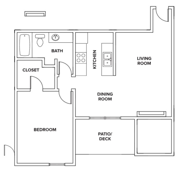 Villas of Oak Creste - FloorPlan - 1BR B