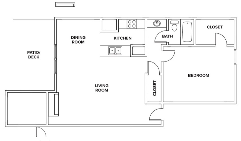 Villas of Oak Creste - Floorplan - 1BR E
