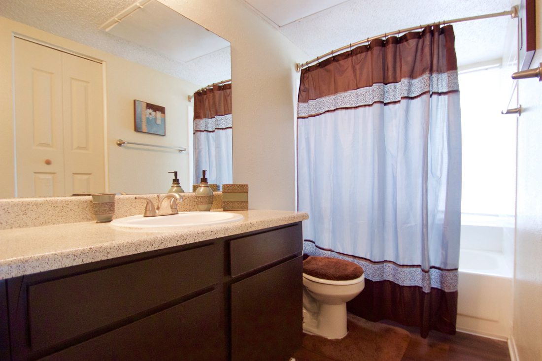 Large Bathroom Vanities at Villas of Oak Creste Apartments in San Antonio, TX