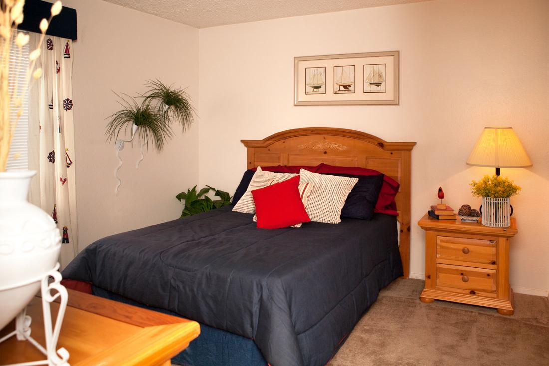 Spacious Bedrooms at Villas of Oak Creste Apartments in San Antonio, TX