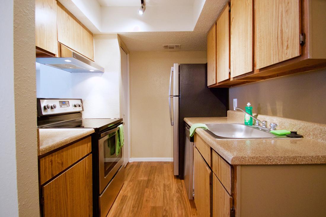 Stainless Steel Appliances at Villas of Oak Creste Apartments in San Antonio, TX