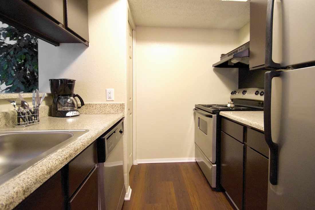 Spacious Kitchens at Villas of Oak Creste Apartments in San Antonio, TX