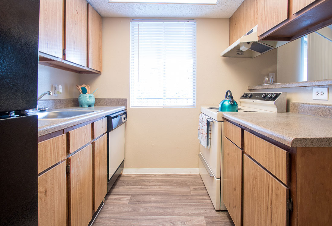 Kitchen at Villas of Oak Creste Apartments in San Antonio, TX