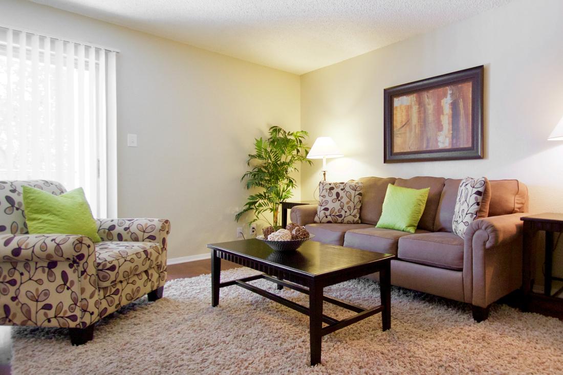 Spacious Living Room at Villas of Oak Creste Apartments in San Antonio, TX