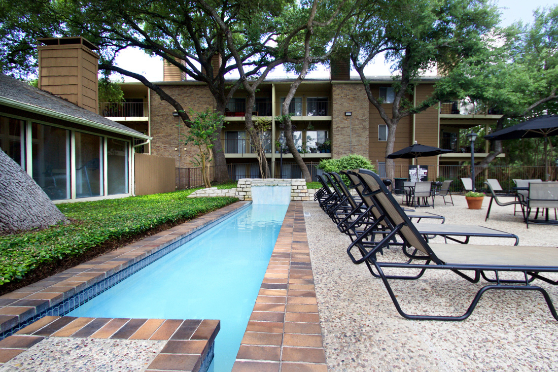Endless Swimming Pool at Villas of Oak Creste Apartments in San Antonio, TX