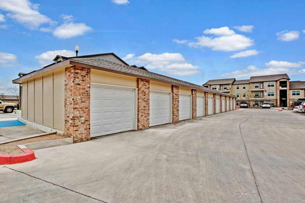Garage Parking at Vista Monterrey Apartment Homes in Brownsville, Texas