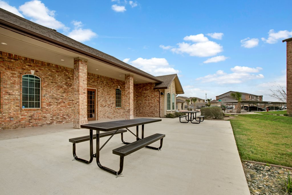 Picnic Tables at Vista Monterrey Apartment Homes in Brownsville, Texas