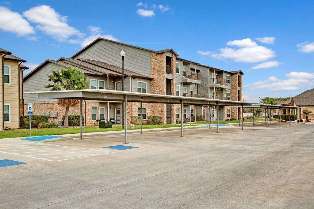 Covered Parking at Vista Monterrey Apartment Homes in Brownsville, Texas