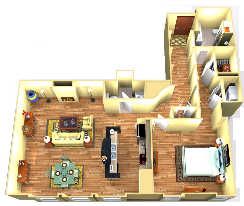 Floorplan - College Suite image
