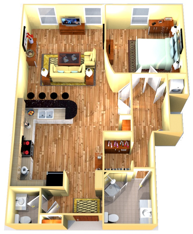 H.H. Warner Lofts - Floorplan - Mortimer South Suite