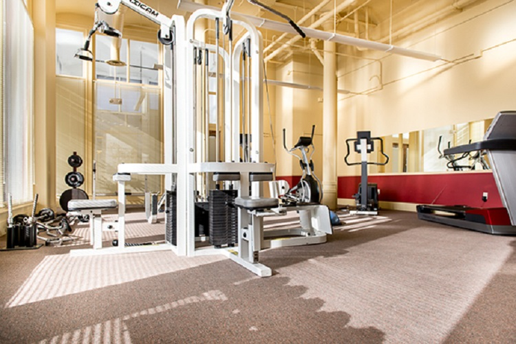 Fitness Center at The H.H. Warner Lofts Apartments in Rochester, NY