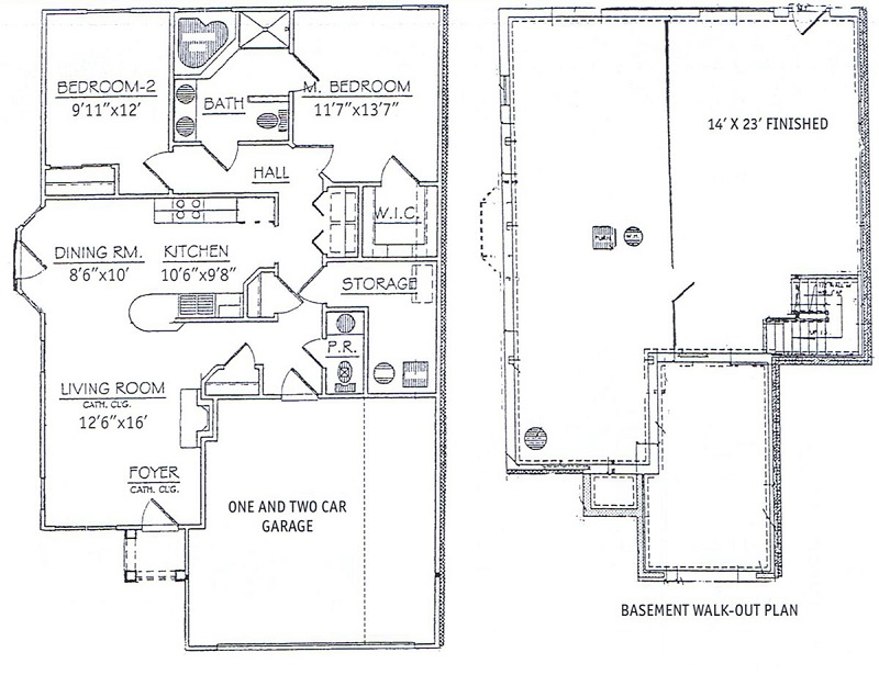 Waterview at Willowpoint Townhouses - Floorplan - 2 Bedroom Ranch