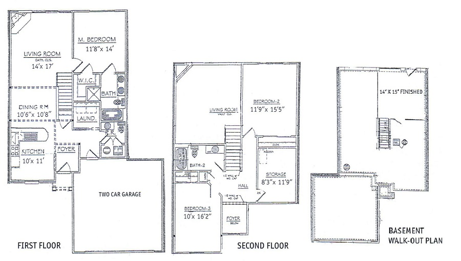 Waterview Townhouse Apartments - Floorplan - 2 Story Home