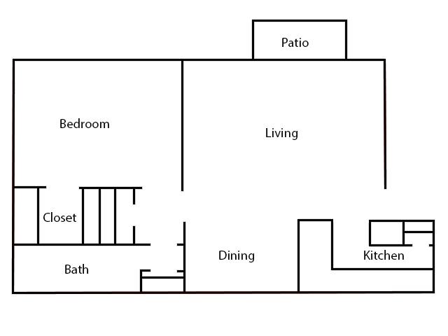 6Eleven Lamar Apartments - Floorplan - 1 Bedroom- C