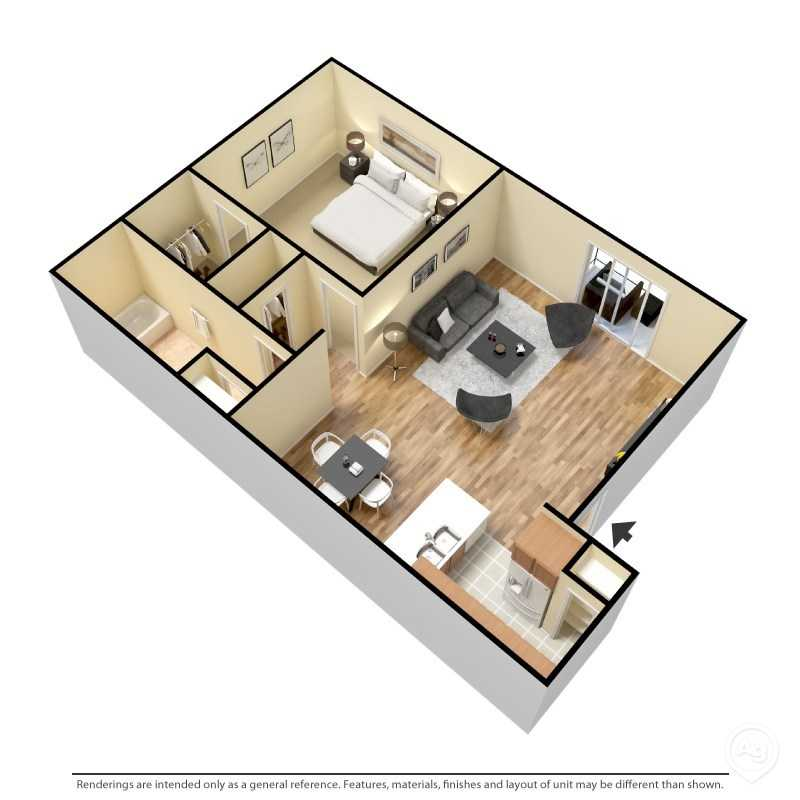 6Eleven Lamar Apartments - Floorplan - 1 Bedroom- C