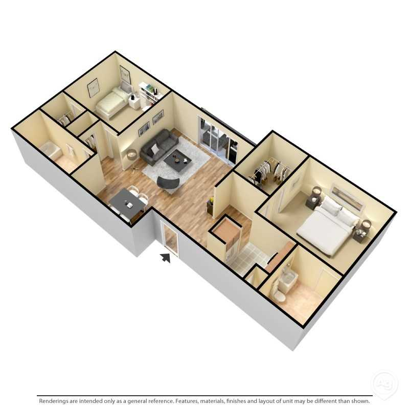 Floorplan - 2 Bedroom- B image