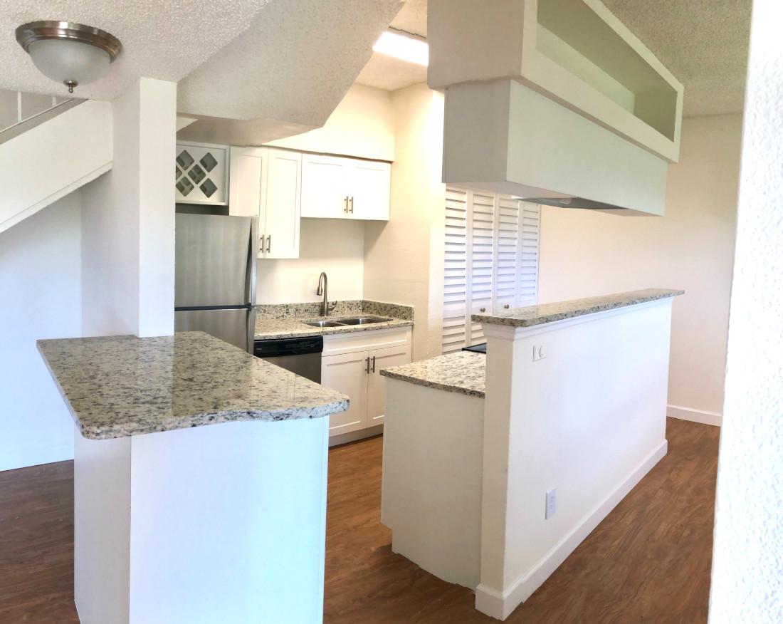 White Kitchen at Waterford Landing Apartments in Miami, FL