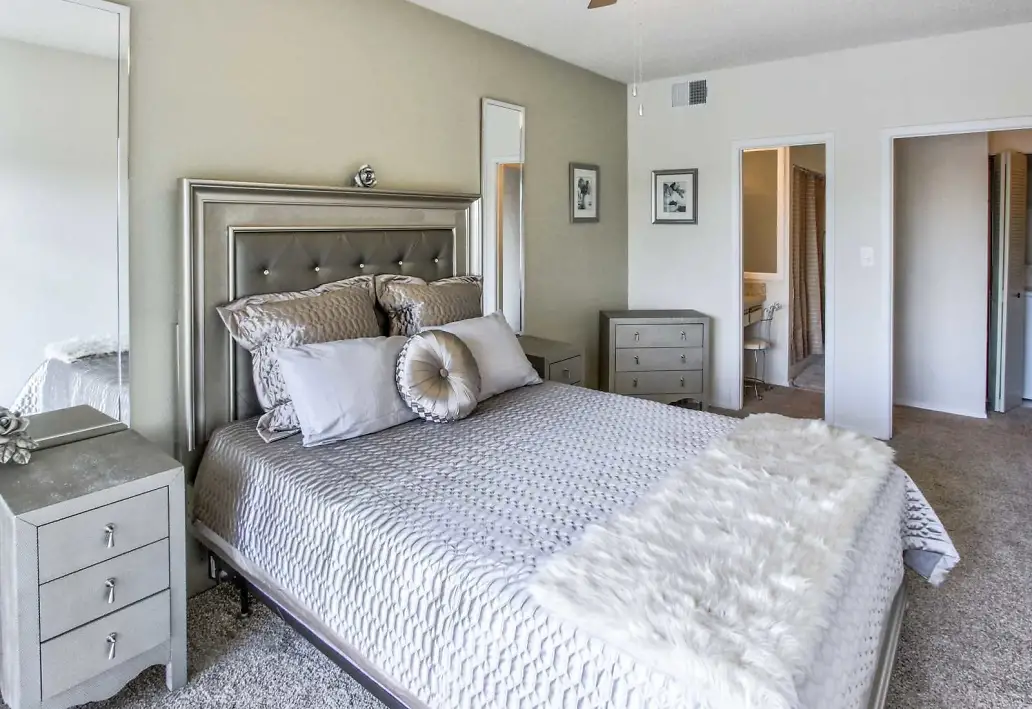Stylish Bedroom at Waterford Landing Apartments in Miami, FL