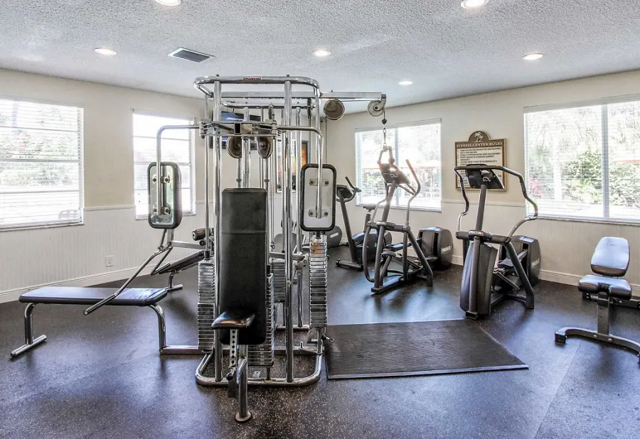 Professional Gym Equipment at Waterford Landing Apartments in Miami, FL