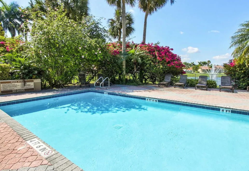 Gated Pool Area at Waterford Landing Apartments in Miami, FL