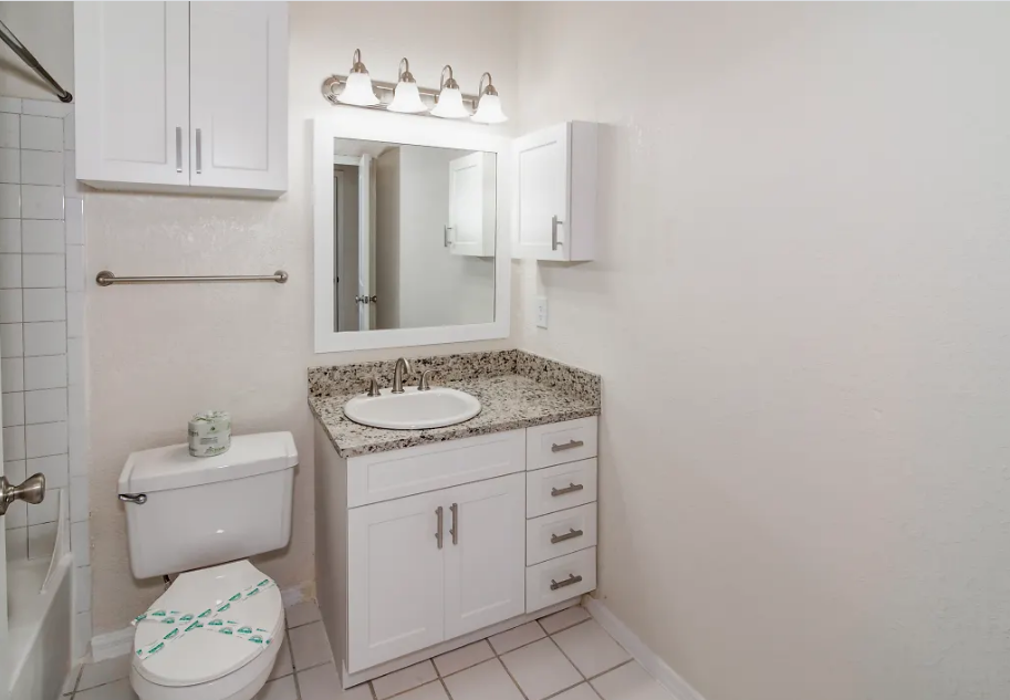 Single Vanity Bathroom at Waterford Point Apartments in Miami, Florida