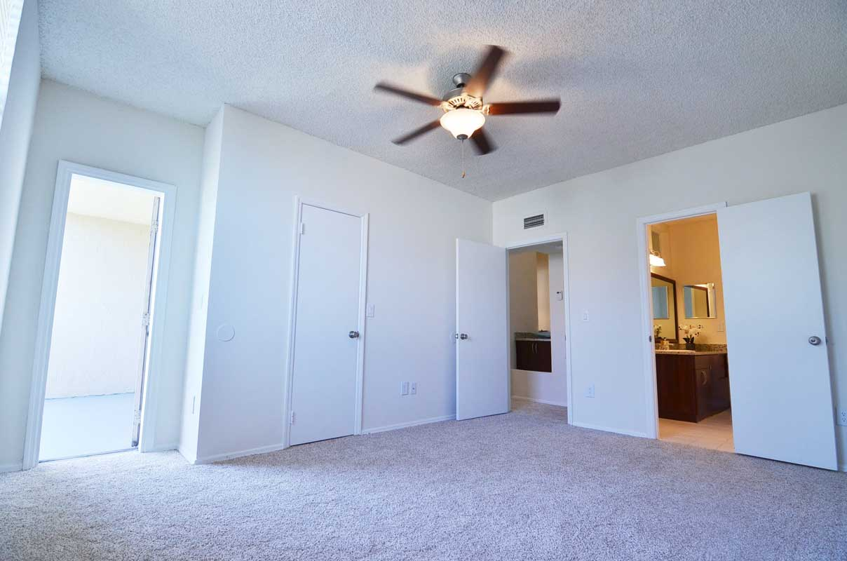 Ceiling Fans in Bedroom at Waterford Point Apartments in Miami, Florida