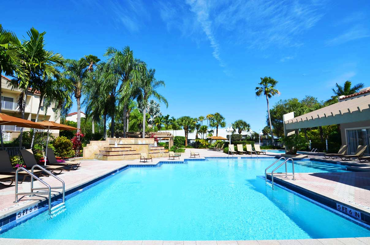 Sparkling Pool at Waterford Point Apartments in Miami, Florida