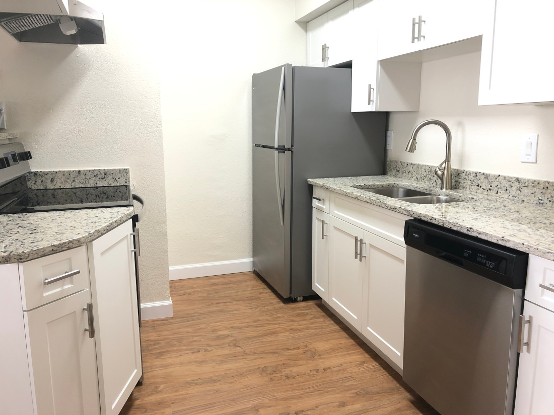 Kitchen at Waterford Point Apartments in Miami, Florida