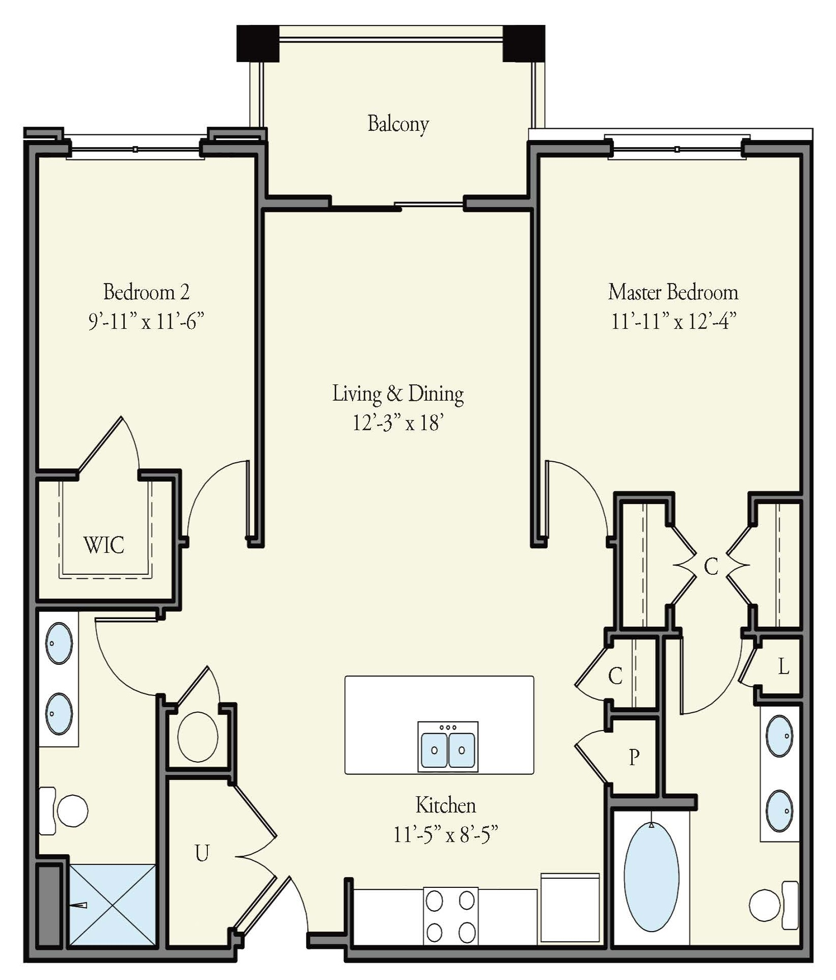 2 Beds 2 Baths Apartment for Rent in Norfolk, VA The ...