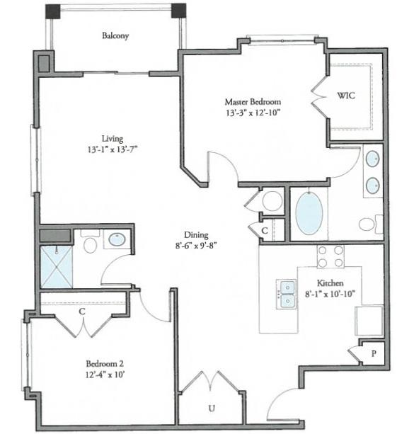 The Watermark - Floorplan - Ayr