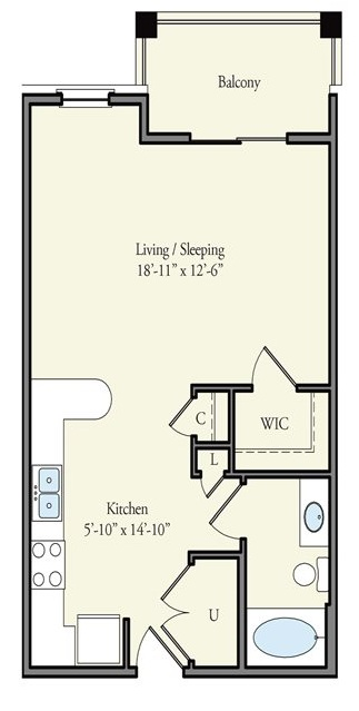 The Watermark - Floorplan - Melrose
