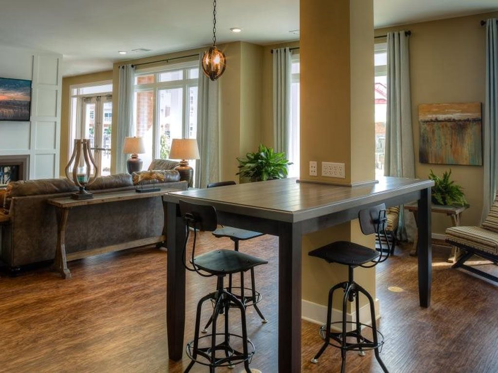 Community Clubhouse at The Watermark Apartments in Norfolk, Virginia