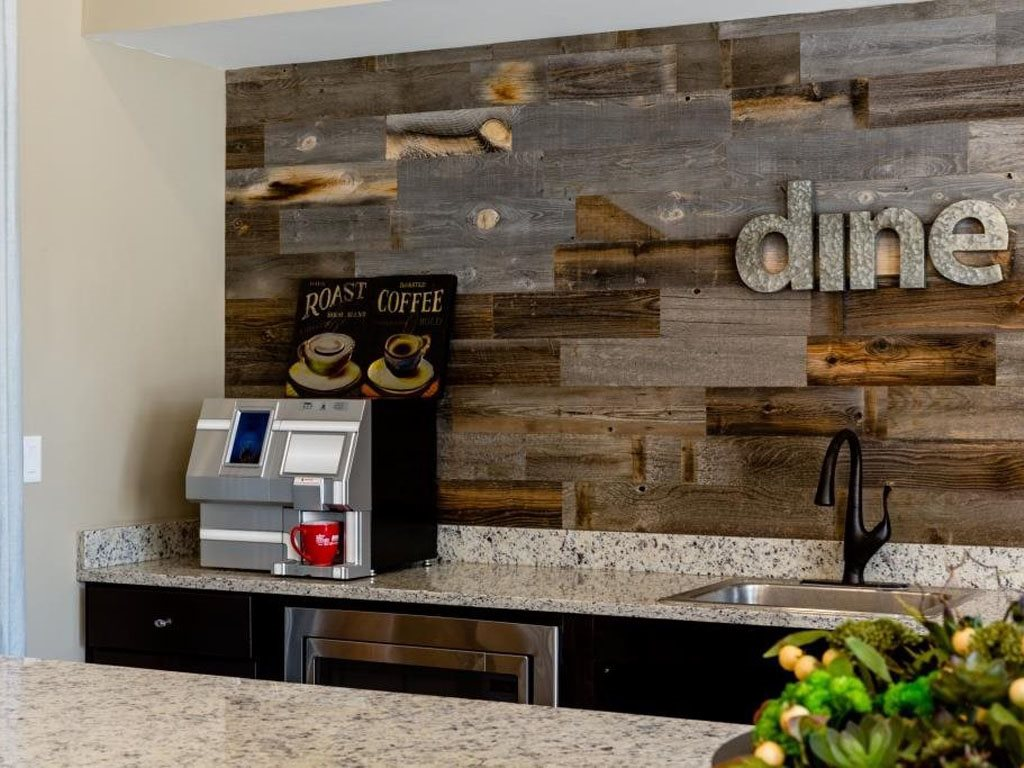 Complimentary Coffee Bar at The Watermark Apartments in Norfolk, Virginia