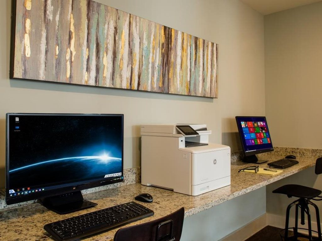 Business Center at The Watermark Apartments in Norfolk, Virginia