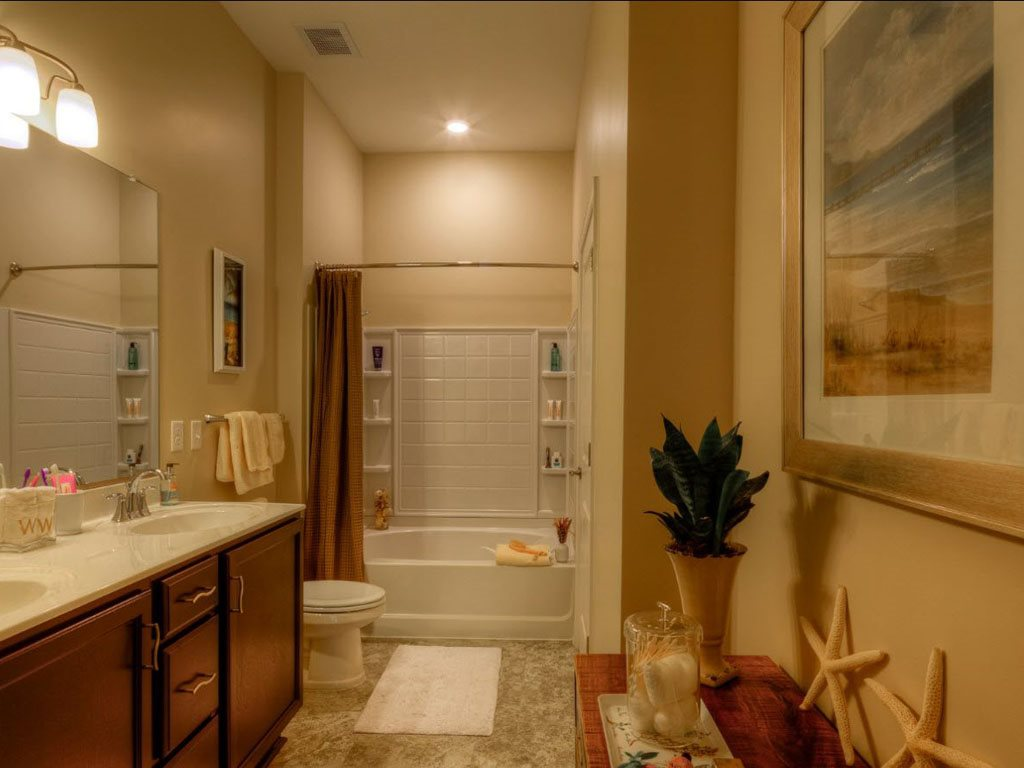 Double Bathroom Vanity at The Watermark Apartments in Norfolk, Virginia