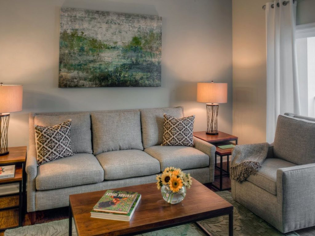Large Living Rooms at The Watermark Apartments in Norfolk, Virginia