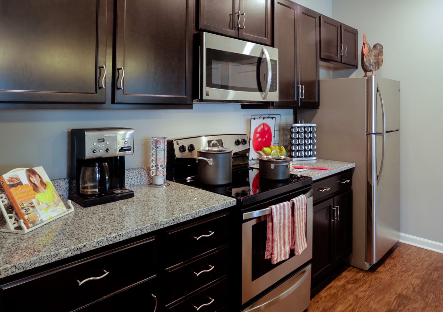 Kitchen at The Watermark Apartments in Norfolk, Virginia