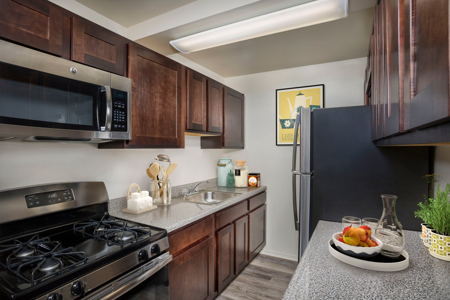 Upgraded kitchens available at Wayne Manchester Towers Apartments in Silver Spring, MD