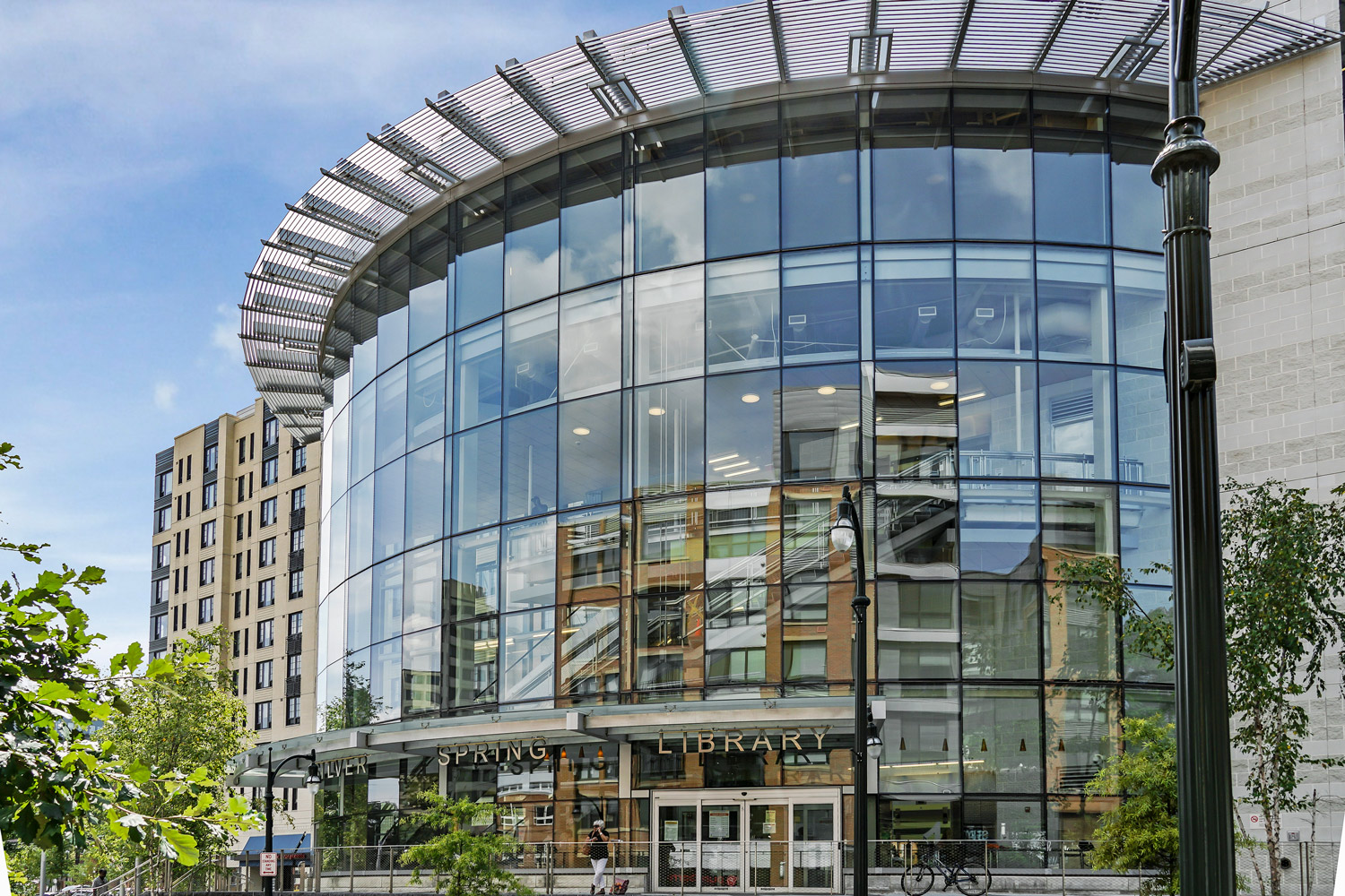Silver Spring library is 5 minutes from Wayne Manchester Towers Apartments